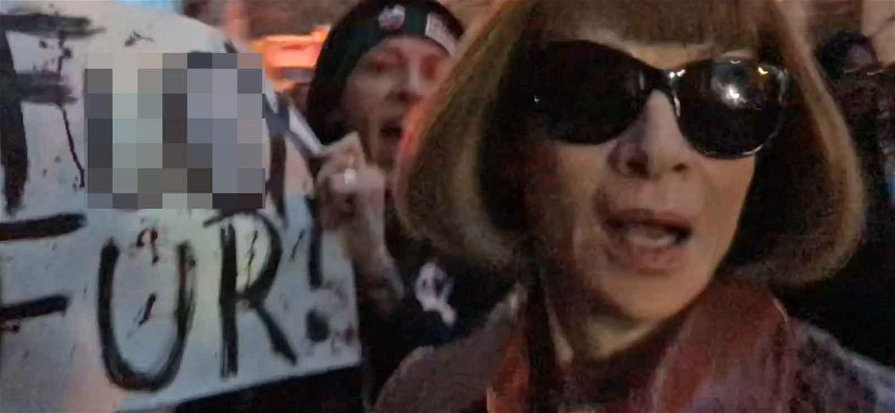 Anna Wintour Accosted by Animal Activists at NYFW Event: See the Crazy Video!
