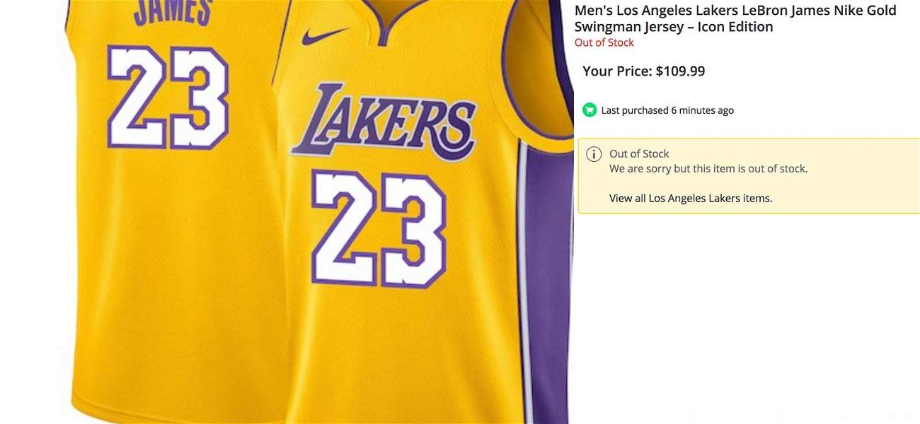 LeBron James Lakers Jersey Getting Swept Up While Cleveland Merch Gets Huge Discount