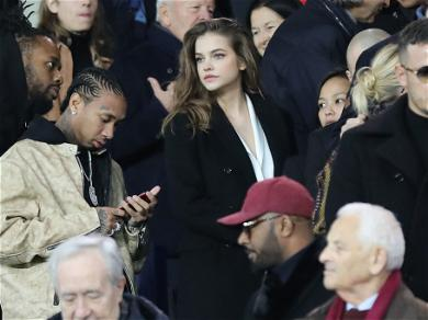 Tyga and Barbara Palvin Attend a Soccer Match