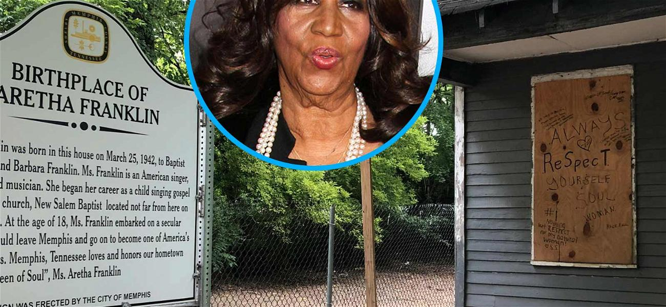 Cops Step Up Patrol at Aretha Franklin's Childhood Home, Dissuade Fans from Leaving Graffiti