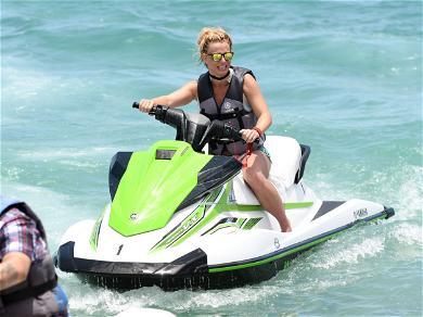 Britney Spears Rides Jet Ski in Miami