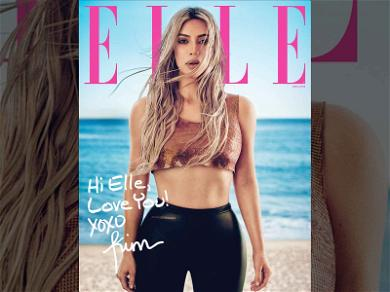 Kim Kardashian Talks About Possible Baby #4 In ELLE Magazine Cover Story