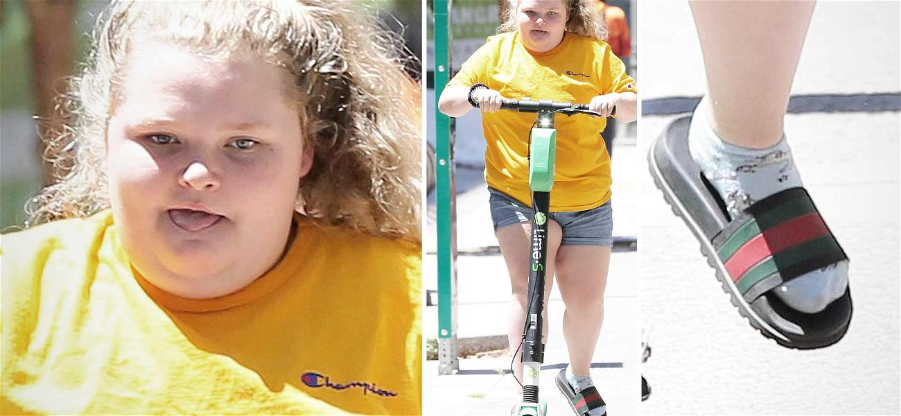 Honey Boo Boo Scoots Through Hollywood While Rocking Gucci Slides