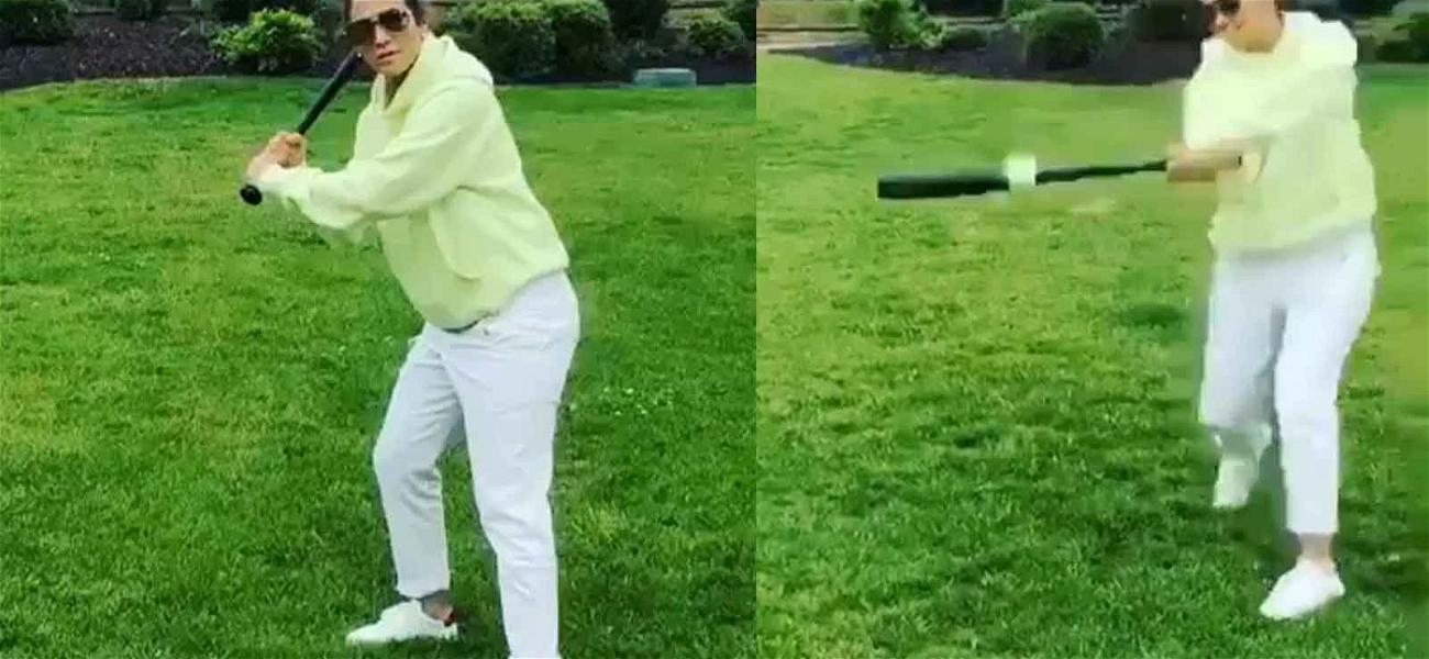 JLo Hits Dingers With Help from Coach A-Rod