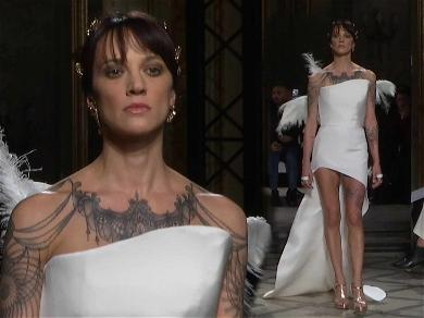 Asia Argento Makes Rare Appearance Walking the Runway During Paris Fashion Week
