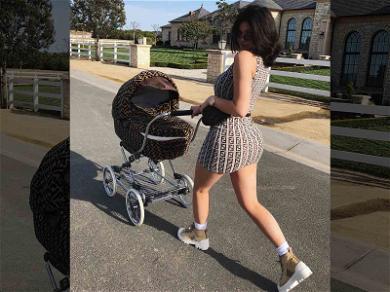 Kylie Jenner Takes Stormi for a Stroll in a $12,500 Custom FENDI Stroller