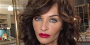 Helena Christensen Celebrates Birthday In Swimsuit With Chilly Xmas Dip
