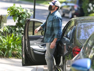 Ben Affleck Snapped Flashing HUGE Smile Leaving J. Lo's Home After Overnight Visit!