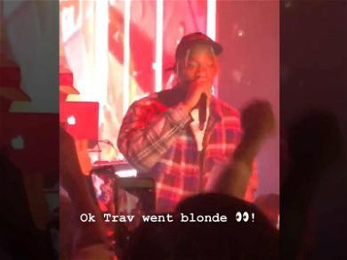 Travis Scott Displays Blond Ambition With Brand New Hairdo