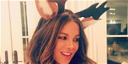 Kate Beckinsale Mesmerizes Fans By Working Her Hips While Riding Santa Claus