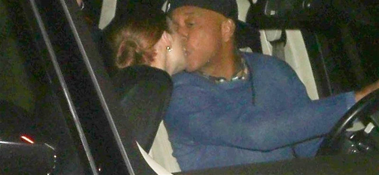 Russell Simmons Locks Lips With Woman After Dinner