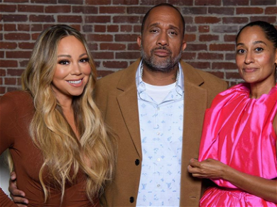 Mariah Carey Flaunts Her Curves With 'Mixed-ish' Cast After Theme Song Debut
