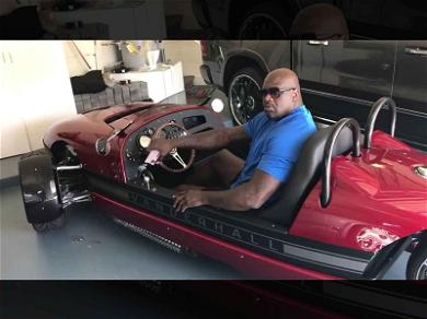 Shaquille O'Neal Rolling XXX Large in Tiny Roadster