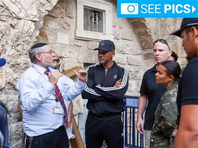 Will Smith Just Chillin' at the Western Wall in Jerusalem While Filming 'Aladdin'