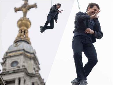 Tom Cruise Spends His Day Just Hangin' Out …