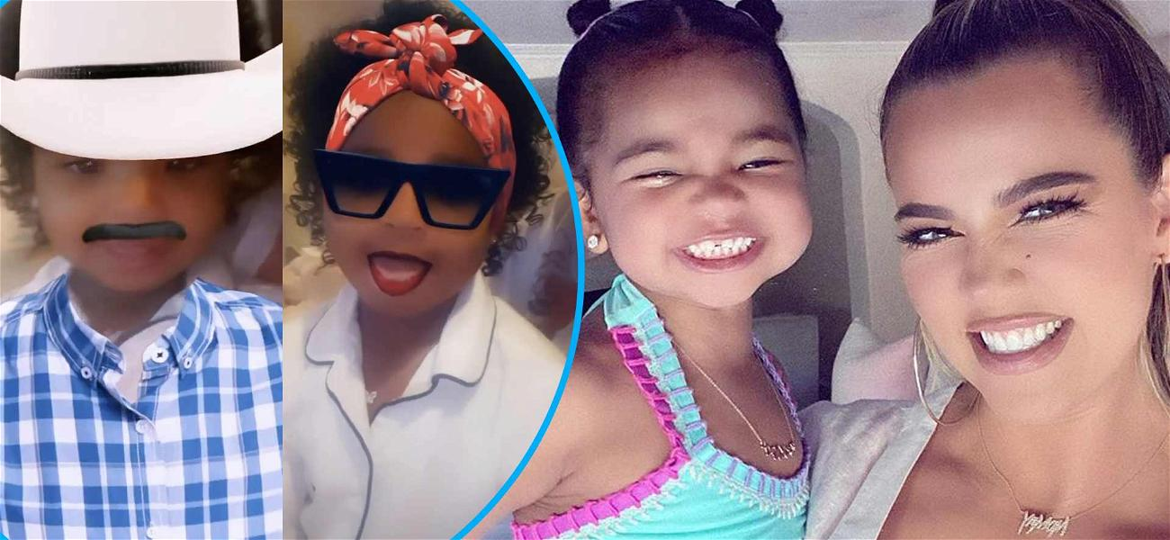 Khloe Kardashian Snuggles Up With Daughter True For Adorable IG Filter Fun