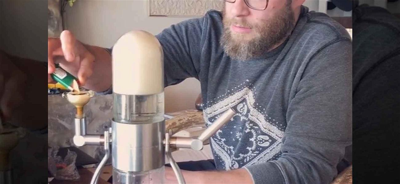 Watch Seth Rogen Hit the Coolest Gravity Bong Ever