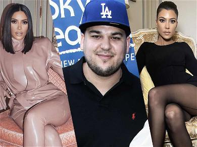 Rob Kardashian Compares Kim & Kourtney To 'Bad Girls Club' After Explosive 'KUWTK' Fight