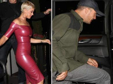 Katy Perry is Pretty in Pink Latex for Birthday with Orlando Bloom