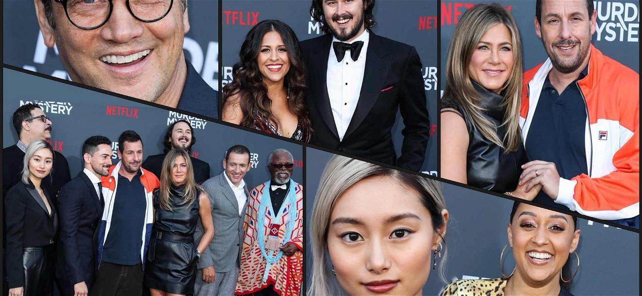 Adam Sandler & Jen Aniston Kill the Red Carpet at 'Murder Mystery' Premiere