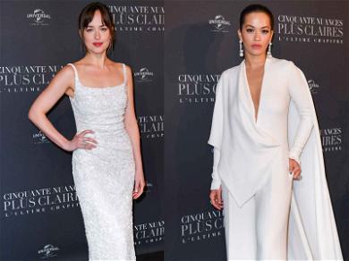 Dakota Johnson and Rita Ora Stun in White at 'Fifty Shades Freed' Premiere