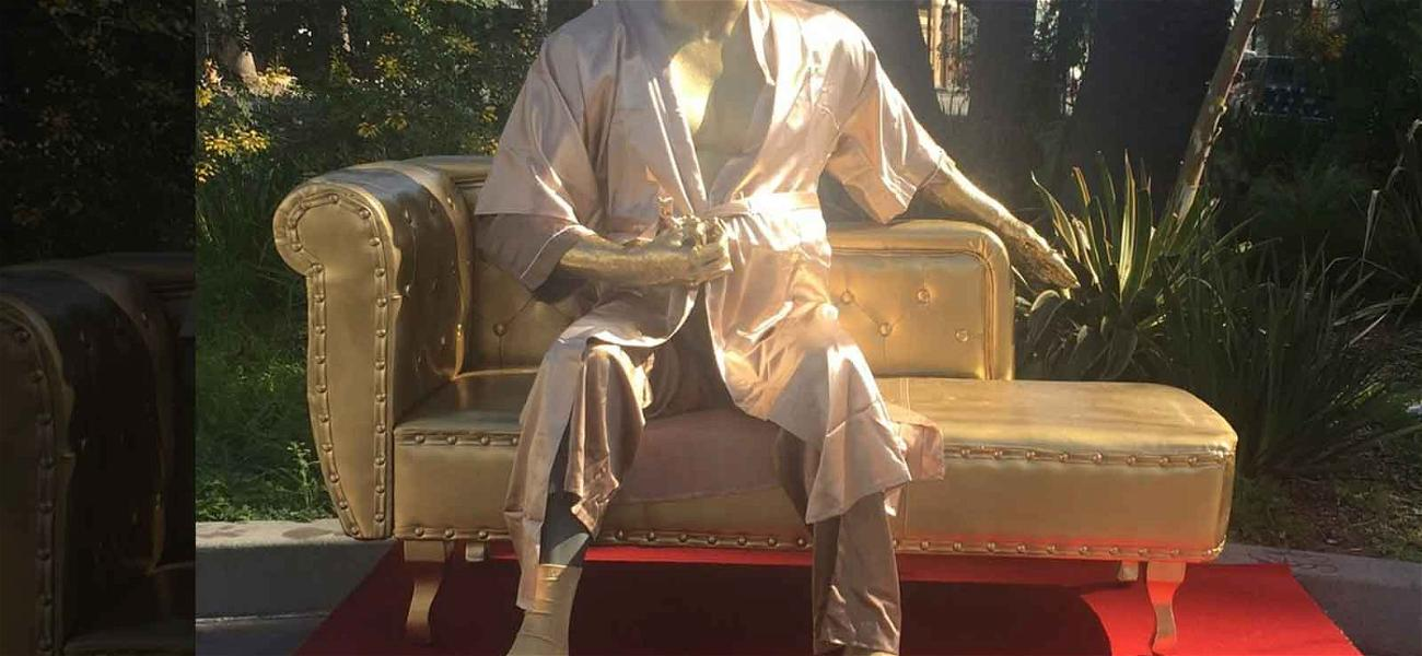 Harvey Weinstein Casting Couch Statue Erected Near Oscars Venue