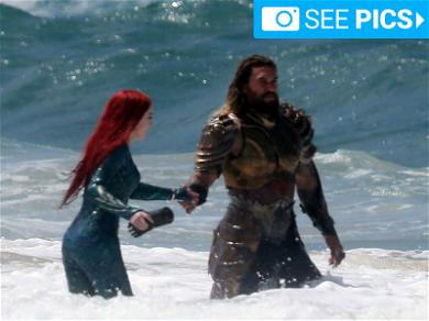 Aquaman and Mera Brave the Waves in Australia