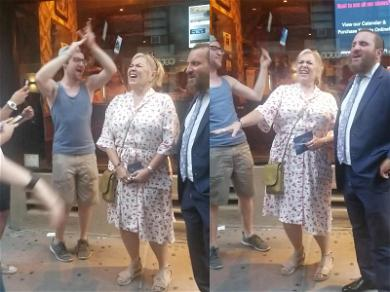 Roseanne Belts Out 'Hava Nagila' With Jewish A Cappella Group in NYC!