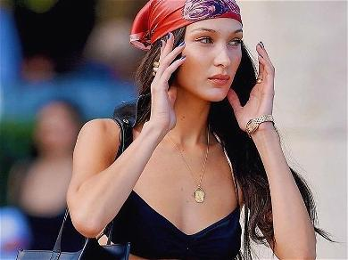 Bella Hadid Pulls Down Pants In Jewel Lingerie & Instagram Thinks She Needs A Burger A.S.A.P.