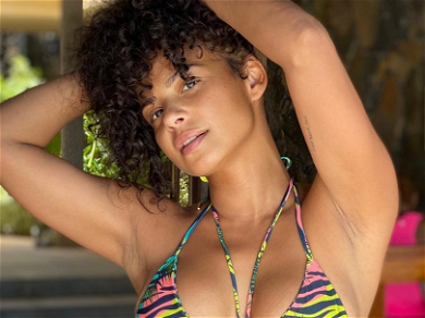 Christina Milian Is ON FIRE Bursting Out Of Minuscule String Bikini At The Beach