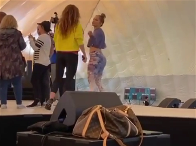 Jennifer Lopez Teaches Shakira How To Do The Double Butt Shake!! — See The Insane Video!!