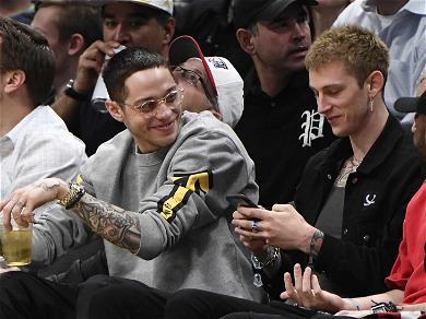 Pete Davidson and Machine Gun Kelly Continue Bromance at NBA Game