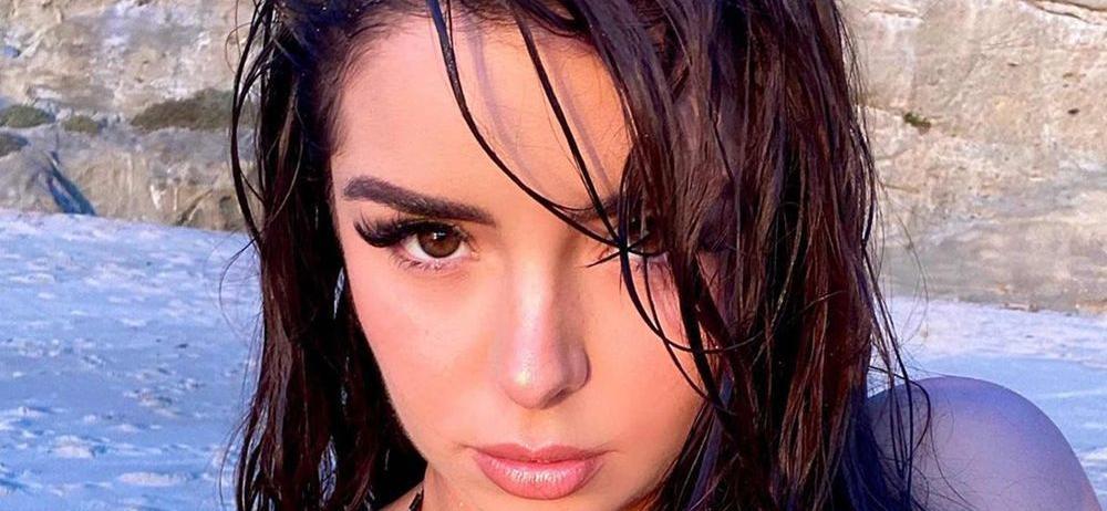 Demi Rose Caught In Torrential Rain In Only A Bikini