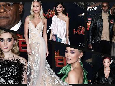 Brie Larson Leads Super List of Stars at 'Captain Marvel' Premiere