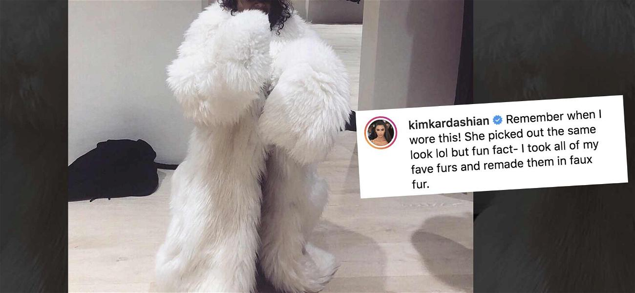 Kim Kardashian Shares North West in 'Fur,' Shuts Down Haters in the Process