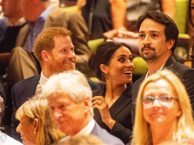 Prince Harry Takes in American Culture with Meghan Markle & Lin-Manuel Miranda at 'Hamilton'