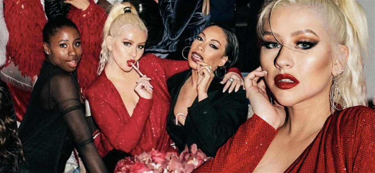 Christina Aguilera Makes Santa's Naughty List With Red Hot Birthday Look!