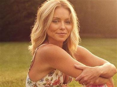 Kelly Ripa Brags In Bed While Showing Off Button-Down Pajamas