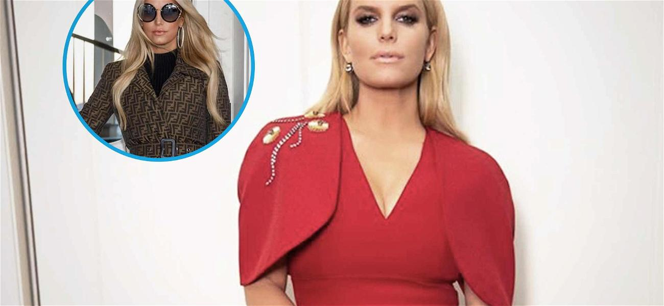 Jessica Simpson's Continues To Slay, Flaunts 100-Pound Weight Loss In $4k Fendi Trench Coat