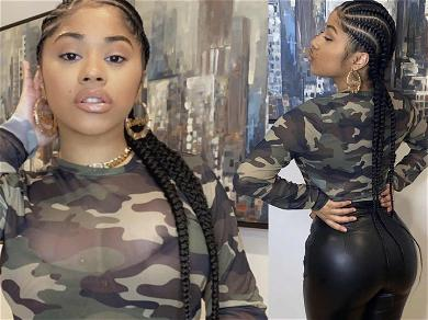Cardi B's Sister Hennessy Carolina Can't Hide Her Dangerous Curves In Skintight Leather Pants & Camo