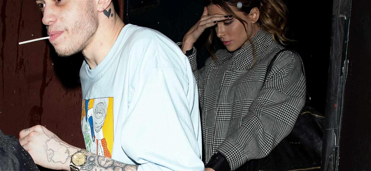 Pete Davidson & Kate Beckinsale Holding Hands Leaving Comedy Show, Confirming Romance Rumors