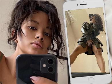 Chris Brown's GF Ammika Harris Gives Peek Up Her Dress In Naughty Mirror Selfies