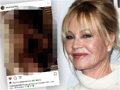 61-Year-Old Melanie Griffith Posts NSFW Pic From Playboy Days