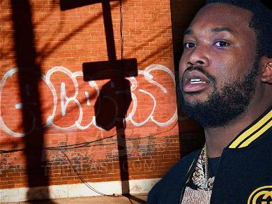 Meek Mill Filing Police Report After Grandmother's Home Vandalized With Racist Graffiti