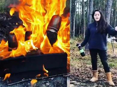 'Teen Mom' Star Jenelle Evans Torches Gifts from Kailyn Lowry in Blaze!