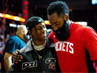 Travis Scott Shows James Harden Love After Being Traded From Houston Rockets