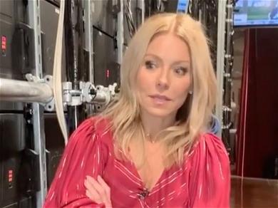 Kelly Ripa Eyes Ice-Cream In Tiny Waist Minidress