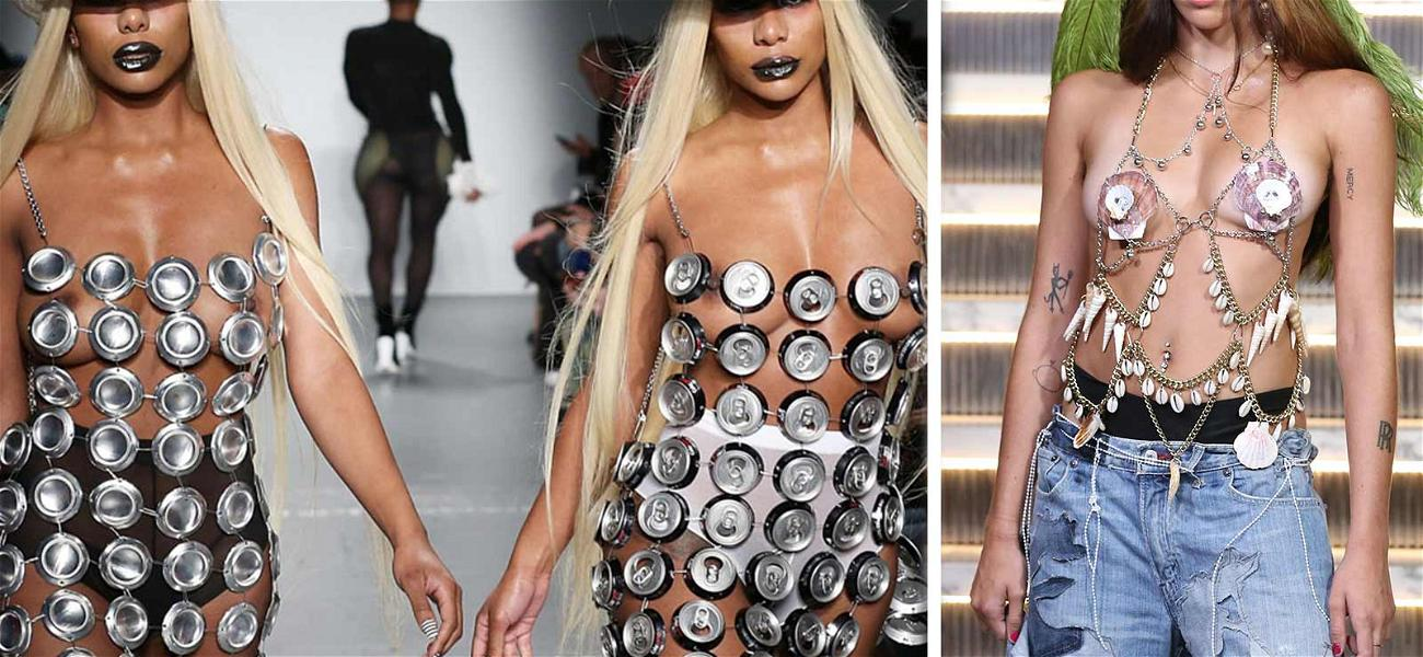 Clermont Twins Walk NYFW Runway With Madonna's Daughter in NSFW Attire