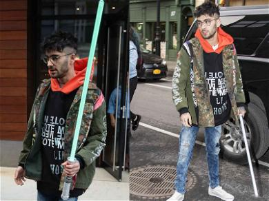 Zayn Malik Channels the Force During Studio Session