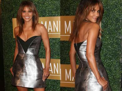 Halle Berry Sizzles in Silver at Pre-Oscar Dinner